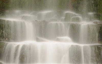 Detail Waterval Brecon Beacons Nationiol Park.