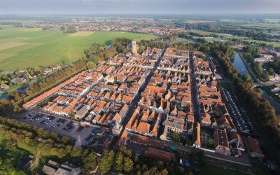 Elburg - I was born in the middle of this medieval Dutch town. Picture made with a drone.